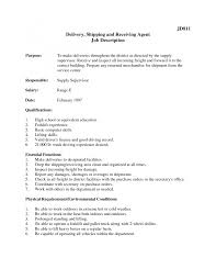job description for shipping and receiving inventory resume sample gallery of shipping and receiving sample resume