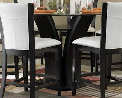tall dining chairs counter: homelegance daisy round counter height table glass top