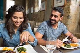 Image result for couple eating at restaurant