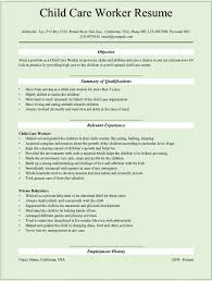 resume good writing example for childcare worker resume child sample resume for daycare teacher