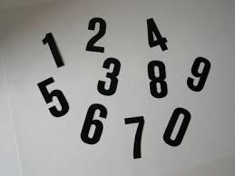 cijfers op grijs vlak