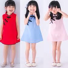 Baby <b>Girls</b> Summer <b>Sleeveless Dress Cheongsam Dress</b> | Shopee ...
