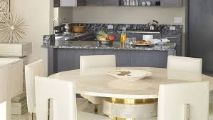 round white marble dining table:  marvelous round kitchen table centerpiece ideas white marble kitchen tables top white leather modern dining chair