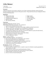 electrical resume format electrician sample resumes template how gallery of electrician resume templates