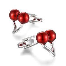 YEYUNTO 1 Pair 2 Pcs Stainless Steel red Cherries ... - Amazon.com