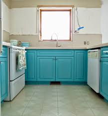 Turquoise Kitchen Kitchen Progress Turquoise Cabinets Check Dans Le Lakehouse