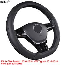 HuiER <b>Car</b> Steering Wheel Cover <b>D Shape</b> For Volkswagen VW e ...