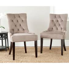 Taupe Dining Room Chairs Safavieh Lotus Linen Upholstered Side Chair In Taupe Set Of 2