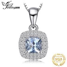 <b>JewelryPalace Natural Blue</b> Topaz Pendant Necklace 925 Sterling ...