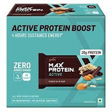 RiteBite Max Protein Active Choco <b>Slim</b> Bars 402g - Pack of 6 (67g x ...