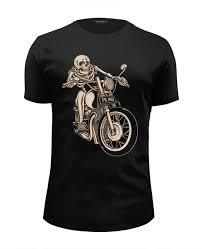Футболка Wearcraft Premium Slim Fit <b>Skeleton Biker</b> #1014299 от ...