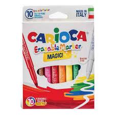 "<b>Фломастеры</b> ""<b>Carioca Erasable</b>"", <b>10</b> штук, 9 цветов + 1 ..."