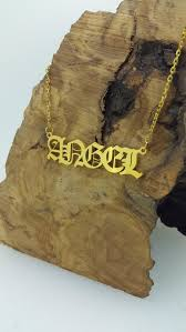 Name necklace <b>Personalized necklace old english</b> name image 2