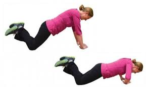 Image result for woman triangle pushups