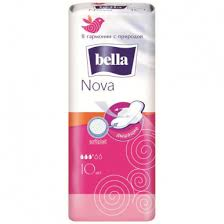 <b>BELLA Nova softiplait</b> air <b>прокладки</b> 10шт (белая линия) BE-012 ...