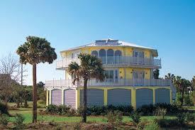Hurricane proof homes storm proof homes hurricane resistant houses    Two story luxury stilt home design built oceanfront   ground level breakaway walls  Coastal