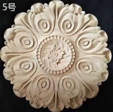 <b>2pcs</b>/<b>lot Diameter</b>:200mm. <b>thickness</b>:8mm <b>Wood</b> carved circular ...