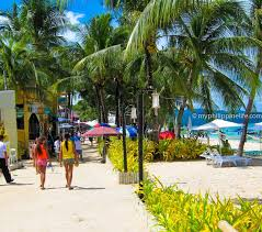 trip report boracay island my philippine life this is boracay s main street the white beach foot path