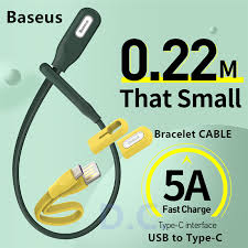 【<b>Baseus</b>】<b>Bracelet</b> Type-C <b>USB Cable</b> PowerBank <b>Cable</b> 5A Fast ...