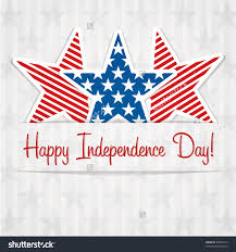 happy independence day star card vector stock vector  happy independence day star card in vector format