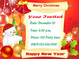 invitation cards sparkling english invitation in merry christmas 1