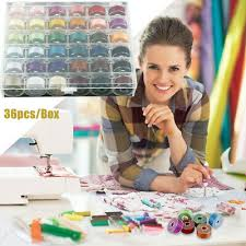 <b>36pcs</b> Organizer Storage Box Craft <b>Bobbins</b> Case Sewing <b>Spools</b> ...