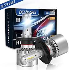 Bevinsee H4 9003 LED Headlights White Bulbs Kit ... - Amazon.com