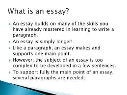 how to write a five paragraph essay  an essay builds on many  an essay builds on many of the skills you have already mastered in learning to