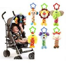 Baby <b>Infant Plush Animal Stroller</b> Music Hanging Doll Rattles Bell ...