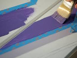 purple chevron stripe on dresser chevron painted furniture