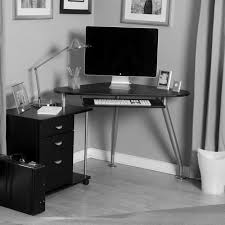 gaming computer desks and small corner computer desk with triangle black wooden table top plus three black computer desks home