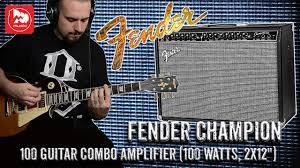 <b>Гитарный комбо FENDER</b> CHAMPION 100 - YouTube