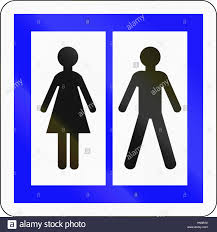 informational road sign used in toilets stock photo informational road sign used in toilets