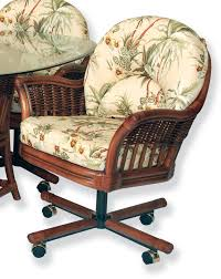 rolling caster dining chair