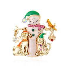 Online Shop <b>CINDY XIANG</b> Creative Paint Christmas snowman ...
