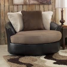 Oversized Living Room Furniture Benchcraft Masoli Mocha Oversized Swivel Accent Chair Wayside