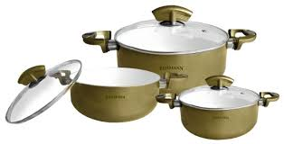 Купить Набор <b>кастрюль</b> Bohmann 6003BHWCR 6 пр. золотой по ...
