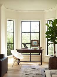 black french windows home office transitional with black window frame fiddle leaf fig black shag rug home office