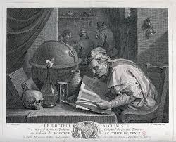 file an alchemist poring over a book on his table stand an hour file an alchemist poring over a book on his table stand an hour