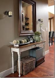 room mirror sofa table decor