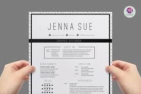 modern chic cv template resume templates on creative market