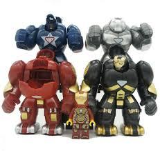 <b>4pcs</b>/<b>lot</b> Mr298 DC <b>Marvel Super</b> Heroes Iron Man With Hulkbuster ...