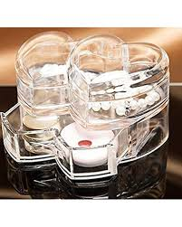 Gosfrid Double Heart Shape Acrylic Cosmetic&Jewelry <b>Storage Box</b> ...