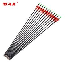 <b>6/12/24 pcs Carbon Arrow</b> Length 28/30 Inches Spine 500 with ...