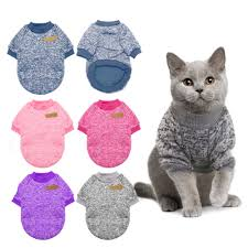 Warm Cat Sweater Clothing Autumn Winter <b>Pet Dog Clothes</b> For ...