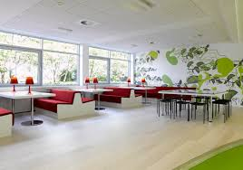 cool contemporary office designs endearing modern office design trends lunch room decoration with red bench and accent office interiors
