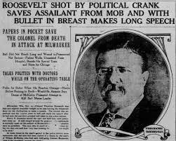 Image result for Teddy Roosevelt wounded