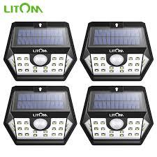 <b>4 Pack Litom</b> 20 LED Solar Light Super Bright Motion Sensor ...