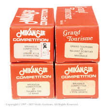 the mike cooling collection vectis toy auctions mikansue group of kits to include no 13 reliant scimitar no 27 triumph trs le mans no 56 jewett le mans and no 16 connaught type l sports