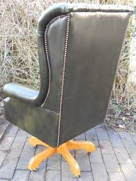 leather swivel desk chair in antique georgian style antique leather swivel desk chair